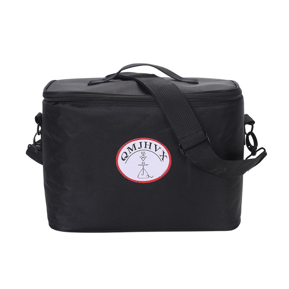 Narguilé bolsa de mão portátil para viagem, acessórios arábia shisha para fumo, de silicone e carbono