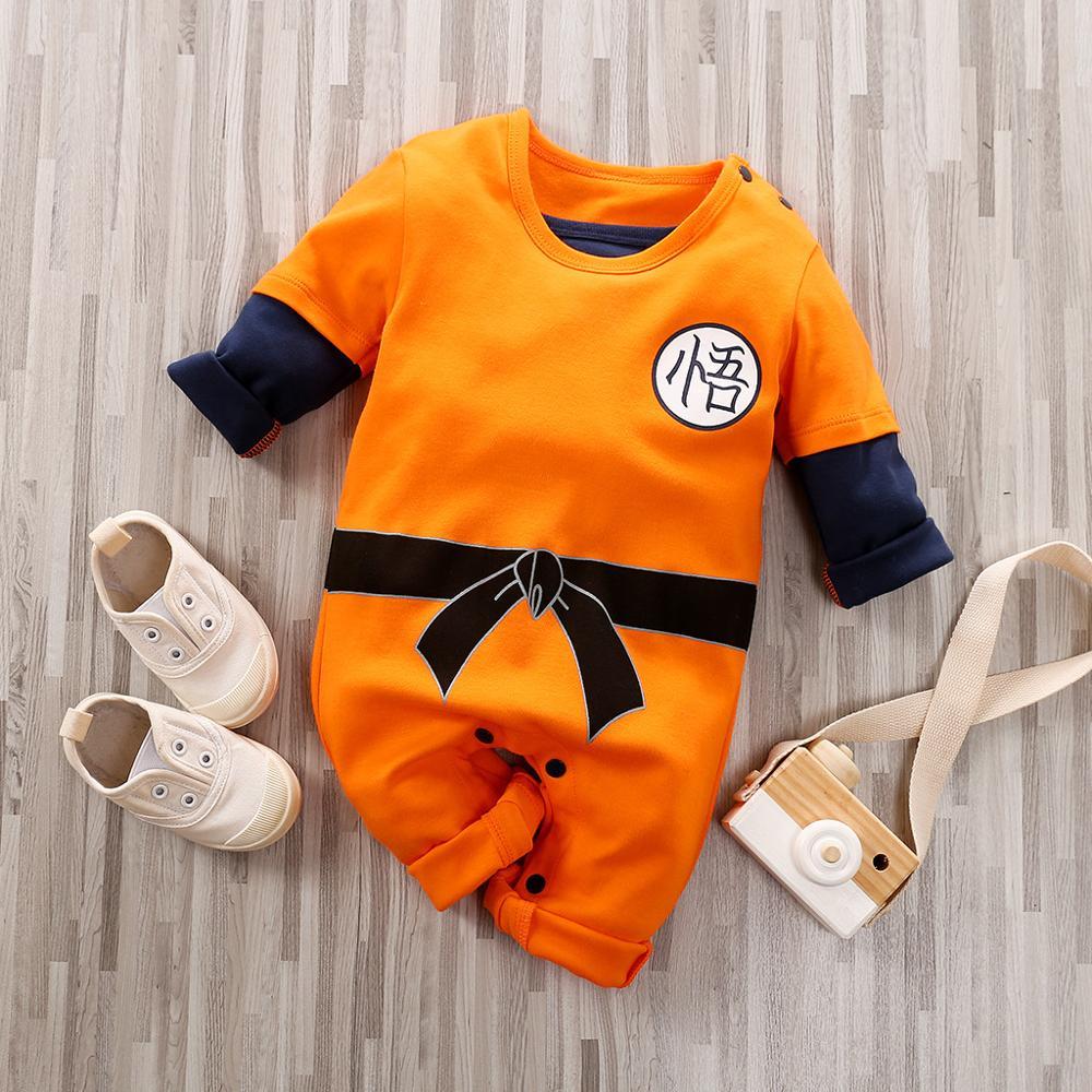 Ropa de bebé recién nacido de Anime, traje estampado, pelele para recién nacido, mono de bebé, monos de bebé, pijamas de bebé