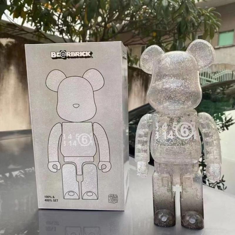 28 Cm 400% Bearbrick Bear@brick Movable Doll Building Block Bear Model Doll Modern Home Decoration Children's Birthday Gift