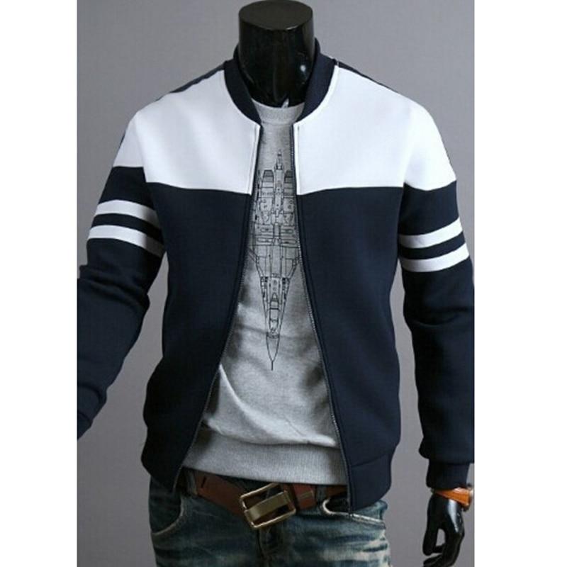 Chaqueta deportiva para hombre, cazadora para hombre, chaqueta ajustada de talla grande a rayas con retazos, chaqueta ajustada de M-4XL para correr para hombre