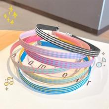 Candy Color Sweet Hairband For Girls Headband Narrow Hair Bands Hair Head Hair Hoop Diy Tools Hair A