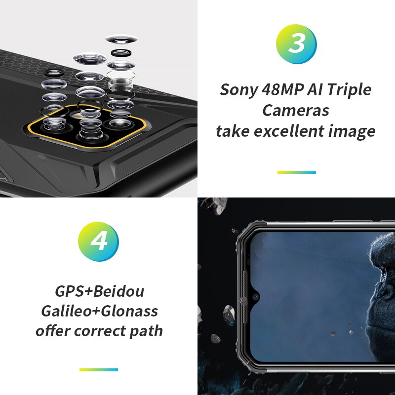 DOOGEE S95 Pro  Android 9 Mobile Phone IP68/IP69K 6.3inch Display 5150mAh Octa Core 8GB 128GB Modular Rugged Mobilephones 48MP enlarge