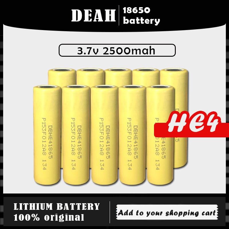 2-20 pces 2020 para lg he4 2500mah 100% original novo 3.7v 18650 lítio bateria recarregável 20a descarga máxima 35a para cigarro