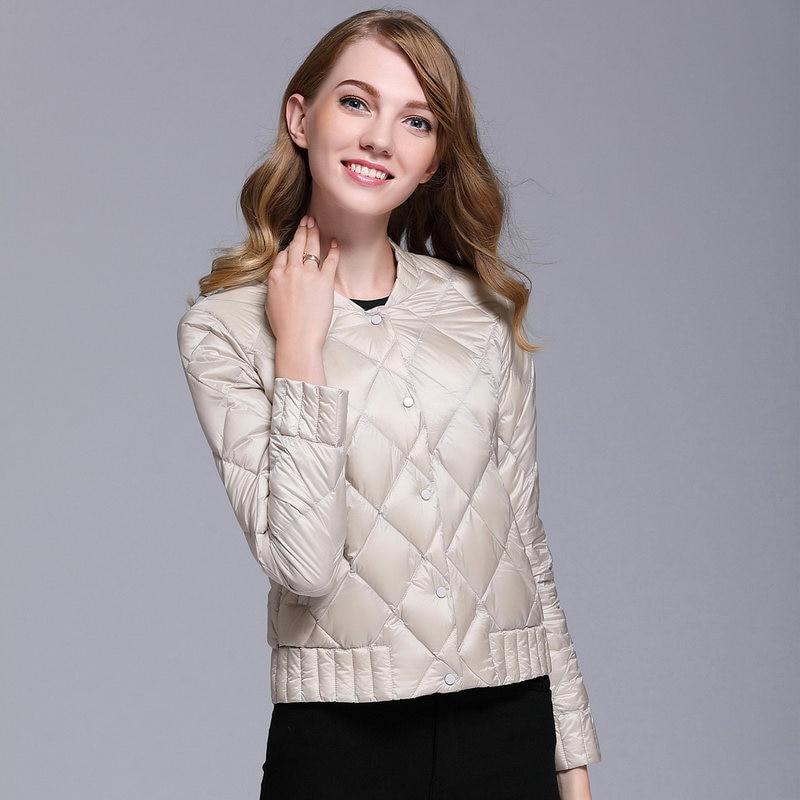 2021 new style, thin and light Korean women's slim slimming diamond lattice small short down jacket jacket casual comfortable