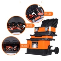 instrument tool set empty case multifunctional large waterproof tools box with wheels trolley gereedschapskoffer toolbox ed50tb