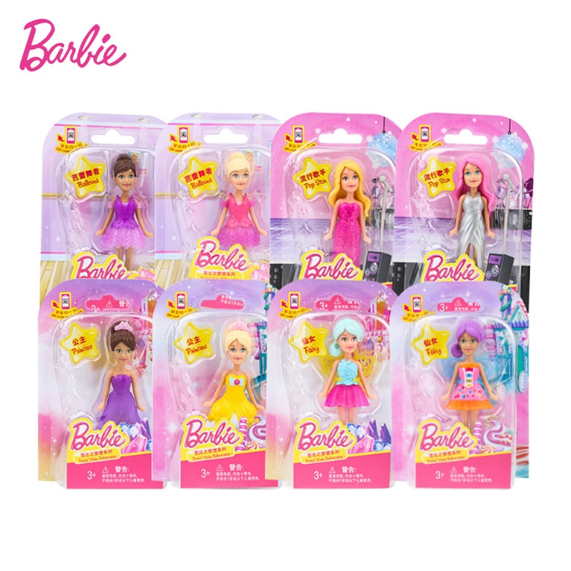 Mattel-Mini muñecas Barbie para niñas, Serie de mascotas, cumpleaños niña Princesa, regalo...