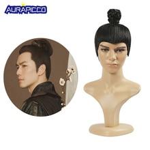 Ancienne épée chinoise hommes ou universitaires Prince chevalier perruque de cheveux pour le jeu de télévision ou la Performance de scène faux cheveux perruque Cosplay
