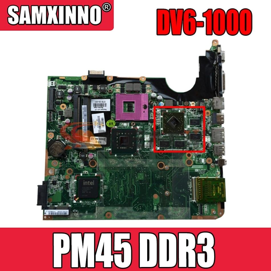AKemy578377-001 اللوحة الأم للكمبيوتر المحمول Hp بافيليون DV6 DV6-1000 اللوحة الرئيسية PM45 DDR3 مع بطاقة الرسومات