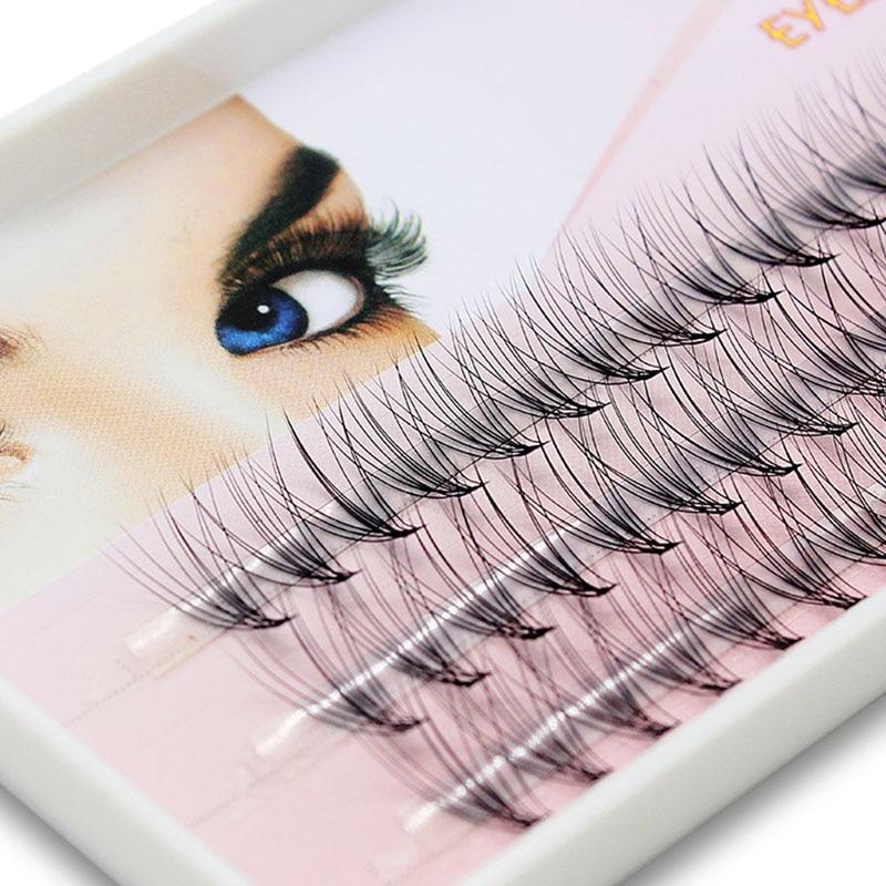 Navina 60 Bundles 10D Eyelash Extension Natural Mink 3D Russian Volume Faux Eyelashes Individual Cluster Lashes Makeup Cilia
