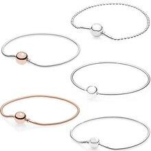 2019 100% haute qualité classique Logo chaîne ronde or Rose couleur or Bracelet Bracelet Bracelet pour bricolage dames bijoux