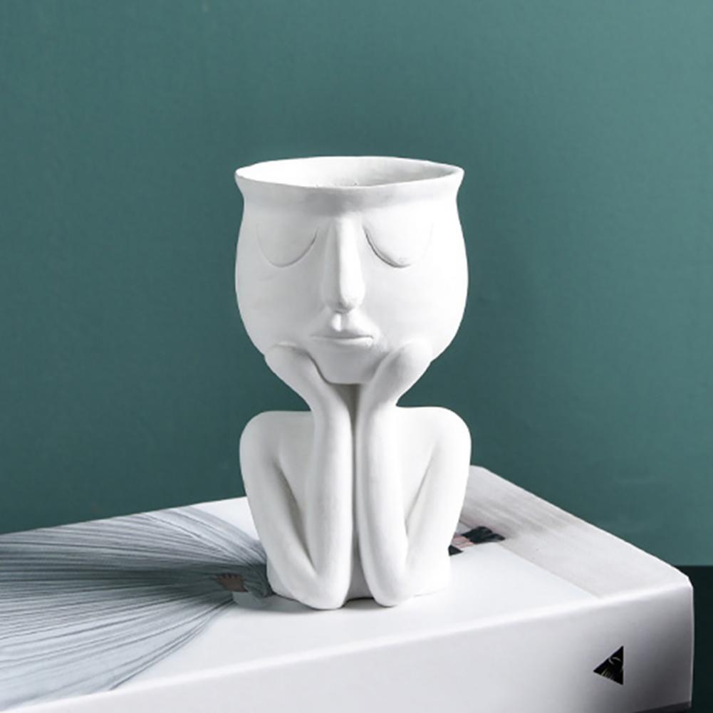 Ваза Human Think Face, керамический горшок для домашних растений, ваза для цветов, плантатор, настольное украшение, садовые горшки и горшки