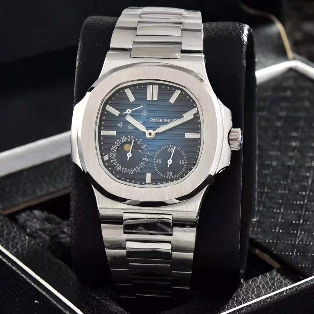 Patek Philippe-Men's watch full-featured mechanical watch stainless steel strap casual trend high qu