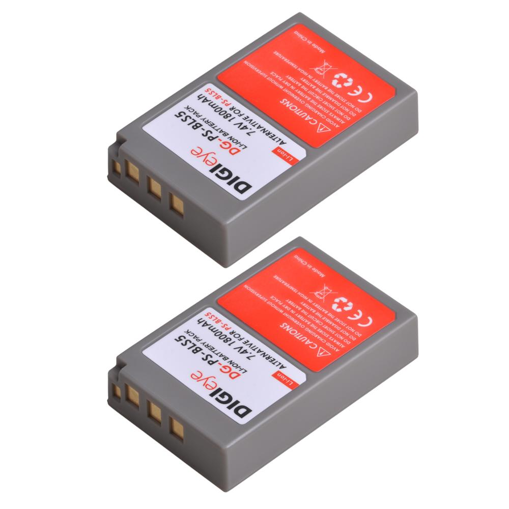 Batterie 1800mAh BLS-5 BLS-50 PS-BLS5 pour Olympus OM-D E-M10, Mark II, Mark III, stylo E-PL2, E-PL5, E-PL6, E-PL7, E-PM2,, stylet 1