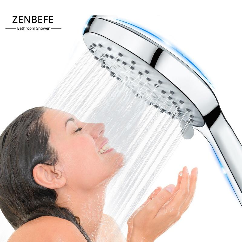 ZENBEFE Pressurized shower shower nozzle hose set for raining household bathing single-head shower shower with big water
