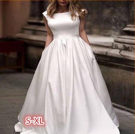 Vestidos de novia de satén, vestido de novia transparente y sensual con...