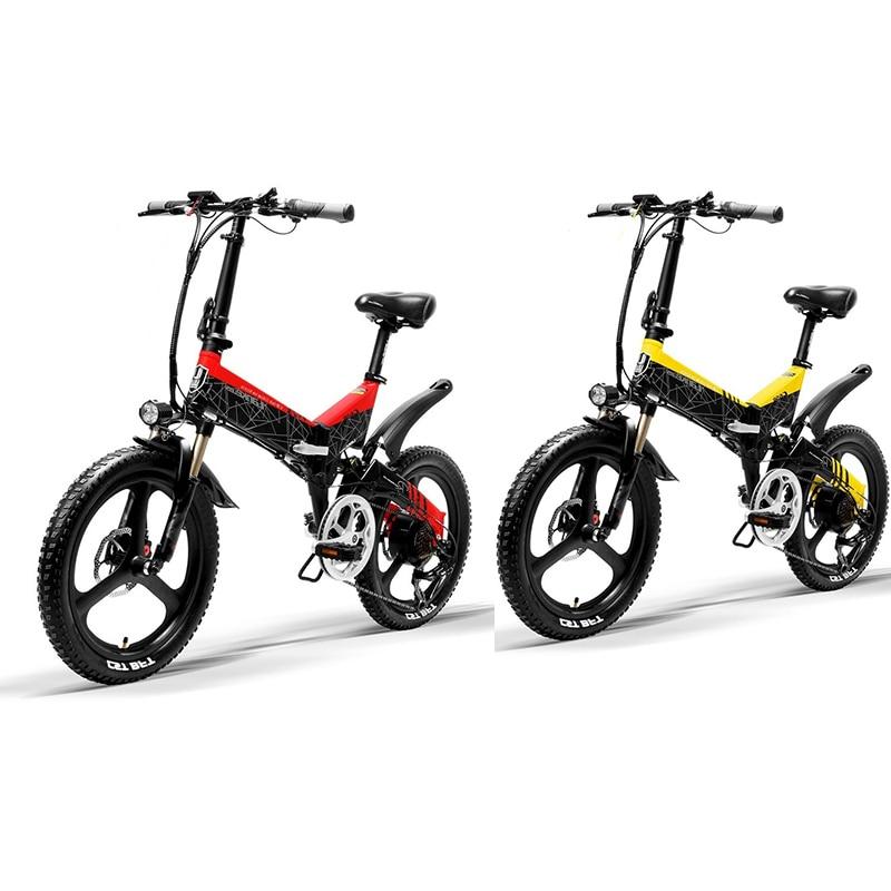 LANKELEISI bicicleta eléctrica plegable de 20 pulgadas 48V 400W 13AH L G montaña bicicleta eléctrica de china