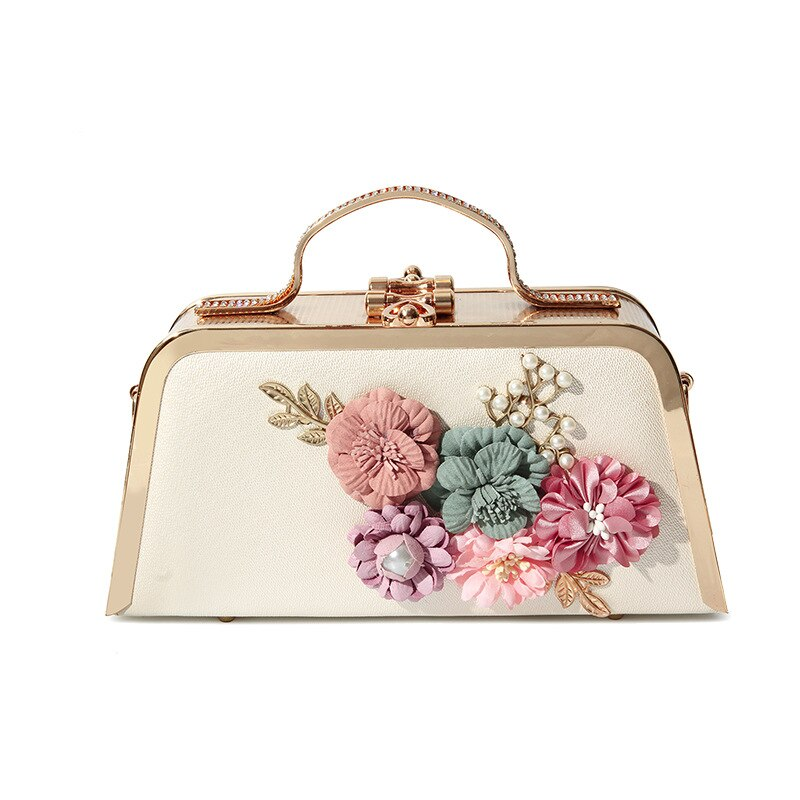 2020 newest ladies wild one shoulder messenger high quality portable small party dinner bag female flower chain handbag clutch