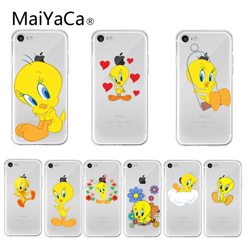 Maiyaca capa de celular de silicone para iphone, capa engraçada com pinça pássaro de luxo exclusiva para iphone x xs max 6 6s 7 7plus 8plus 5 5S se xr 11 pro max,