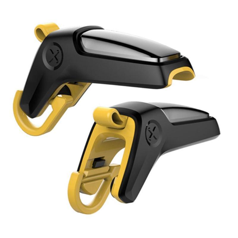 1 Pair Mobile Game Controller Trigger Aim Button Phone Gaming Fire Button Joysticks for PUBG Shooter Joystick