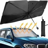 d2 125cm 145cm car sunshade snow umbrella uv windshield cover foldable heat insulation sun blind car auto protection accessories