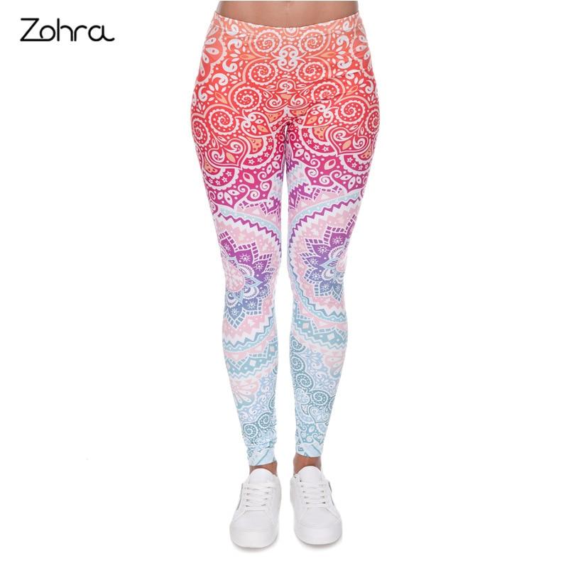 Zohra Explosion-3D Digital Aztec Series Printed Leggings Europe and America Leggings Outer Wear