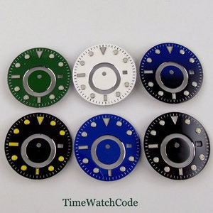 31.5mm Watch Dial Spare Parts Fit For 5833 Movement Watch Face Replacements Date Window Dual Time Zone