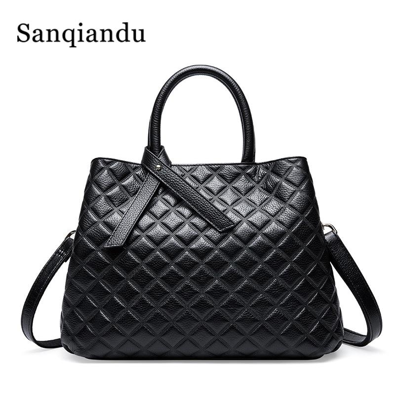 Marca de luxo bolsas femininas sacos couro genuíno treliça crossbody bolsa ombro famoso designer moda senhoras sacos acolchoado