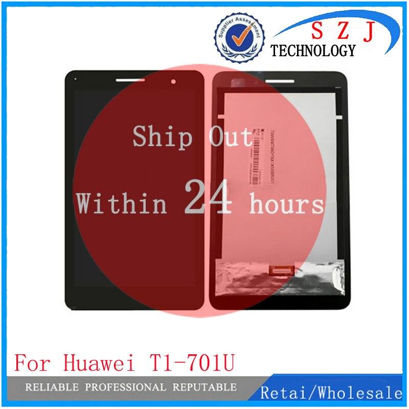 Nuevo 7 pulgadas para Huawei Honor Play Mediapad T1-701 T1 701U T1-701U LCD pantalla táctil Panel digitalizador envío gratis