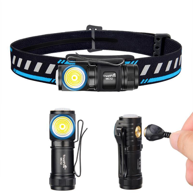 trustfire mc12 mini lanterna cree xp l oi 1000lm usb recarregavel led farol com megnetic