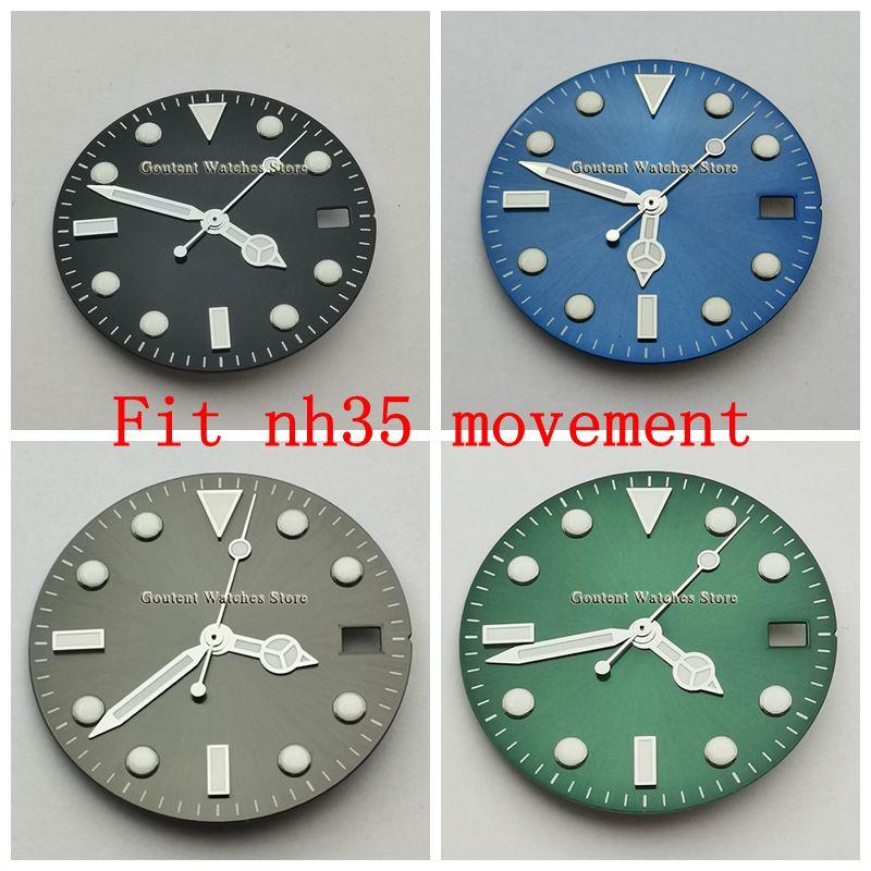Producto en oferta, reloj dial + reloj de manos aptas NH35 de 28,5mm, piezas de reloj de movimiento