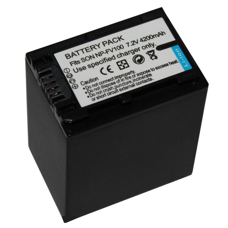 4200mAh NP-FV100 batería para SONY NP-FV30 NP-FV50 NP-FV70 NP-FV120 SX83E SX63E AX100E SR15 SR21 SR68 SR88 SX15 SX21 SX44 SX45
