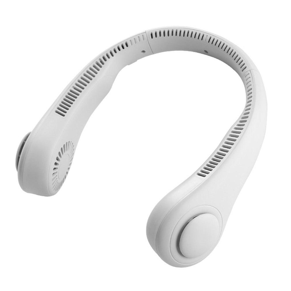 Miniventilador sin aspas para el cuello, 4000mAh, recargable por USB, silencioso, para...