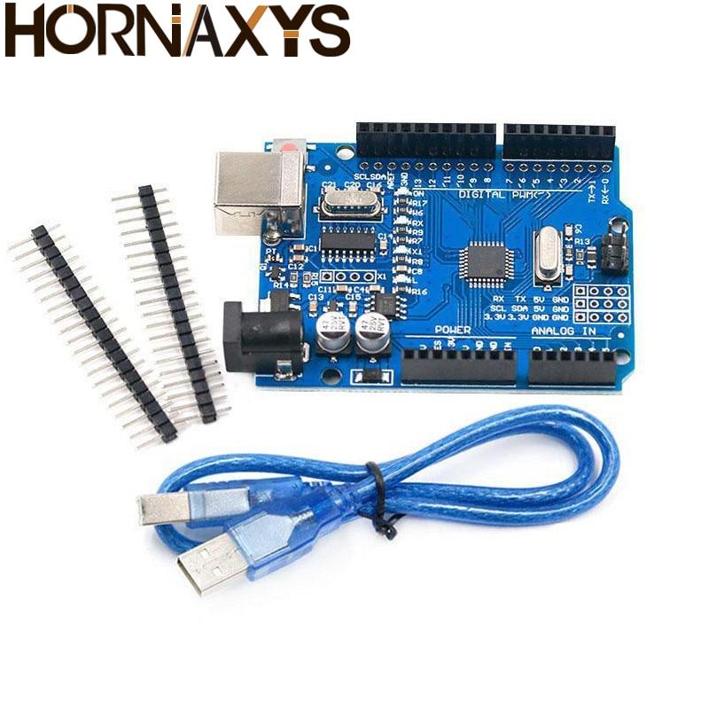 1PCS UNO R3 UNO board UNO R3 CH340G+MEGA328P Chip 16Mhz For Arduino UNO R3 Development board+USB CABLE