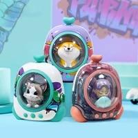 space backpack cute bluetooth speakers portable wireless speaker bt 5 0 led app cat dog diy subwoofer capsule gift