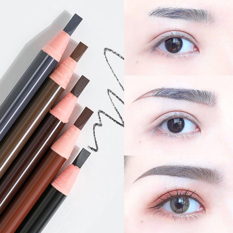 12pcs/lot Professional Microblading Eyebrow Pencil 5 Colors Long lasting Waterproof Eyebrow Tattoo Pencils Cosmetic Tools