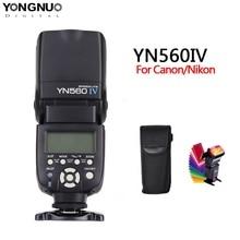 Yongnuo YN560 iv YN560IV 2.4GHZ sans fil Flash Speedlite émetteur-récepteur intégré pour Canon Nikon Olympus Pentax Sony appareil photo