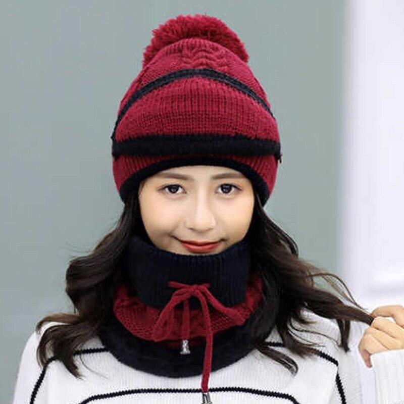 Женская трикотажная флисовая зимняя шапка-бомбер