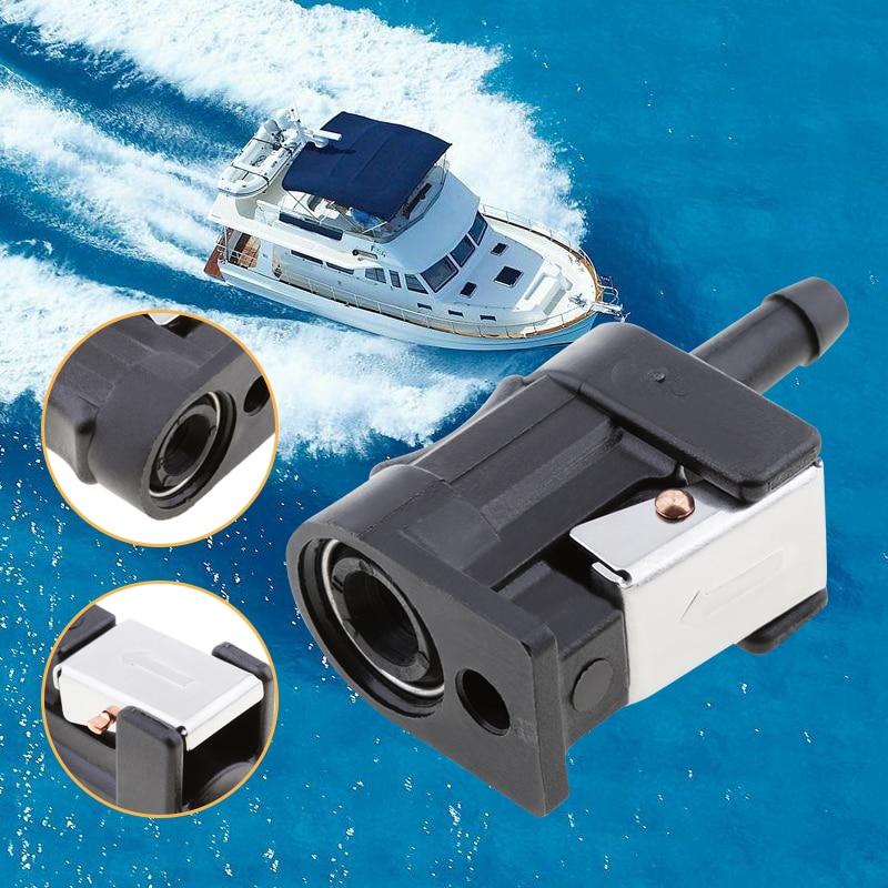 6mm fêmea linha de combustível conector do motor de popa lateral do motor tubo combustível linha de combustível conector plástico para yamaha motor externo 7mm