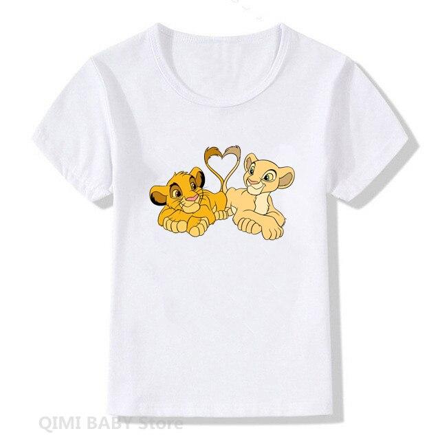 Cartoon T Shirt Kid New T-shirts for boys T-shirt Lion Print Children Harajuku Graphic Tshirt Girl Boy cute Tee tops Clothing