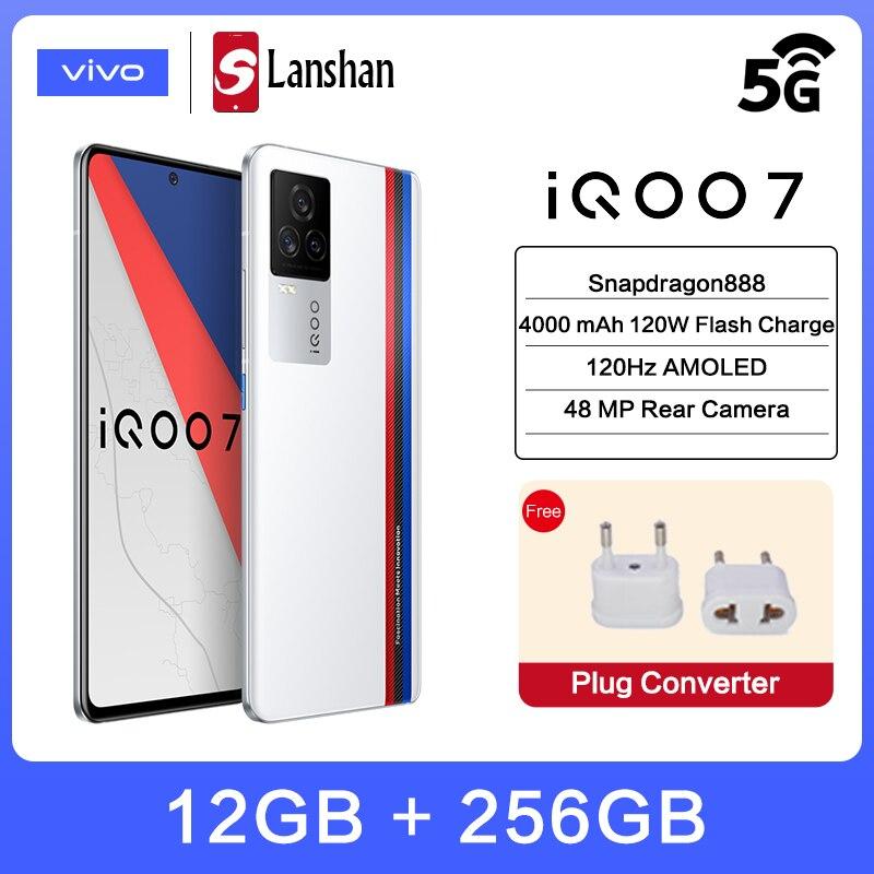 vivo Original IQOO 7 5G 120W FlashCharge Snapdragon888 Celular Telephone 12GB256GB 120Hz AMOLED Display 48MP camera Mobile Phone