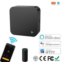 Tuya     telecommande universelle infrarouge  wi-fi  pour maison connectee  pour TV  AC  DVD  AUD  fonctionne avec Alexa et Google Home