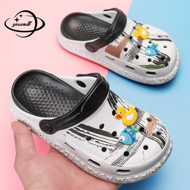 3-18y Kids Mules & Clogs Summer Baby Boys Girls Croc Sandals Flat Heel Cartoon Beach No-Slip Slippers Children Garden Shoes C20