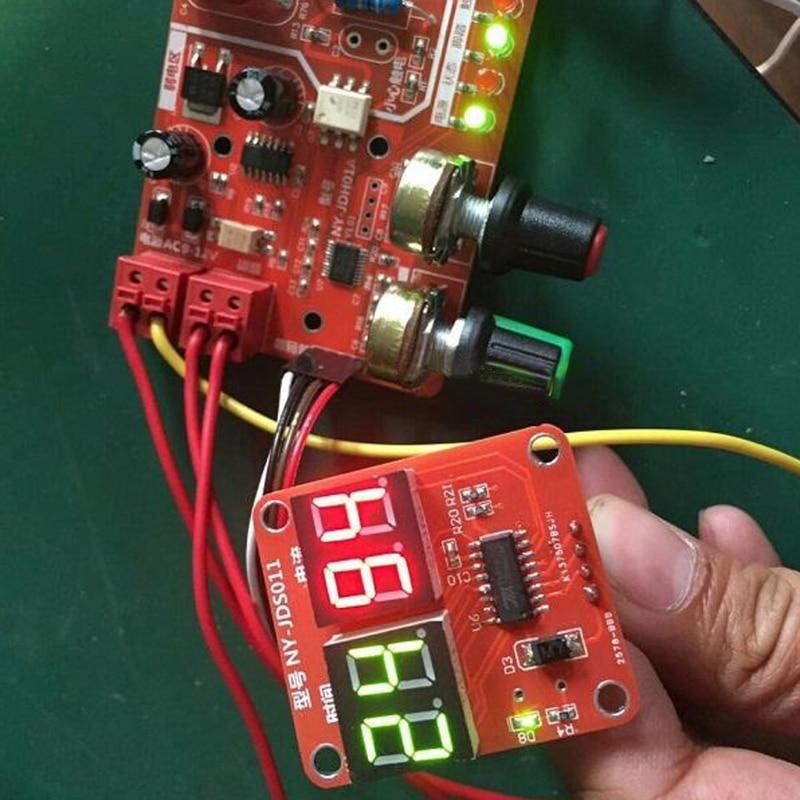 Soldador por puntos tablero de Control de tiempo 40a controlador de corriente con pantalla Digital