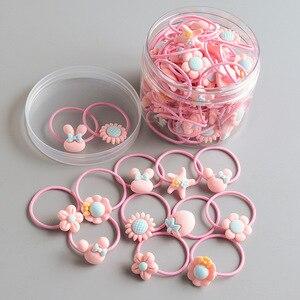 30pcs Children's Headband Headwear Hair Korean Version Sweet Cute Hair Accessories Cartoon Headwear Girl Rubber Band