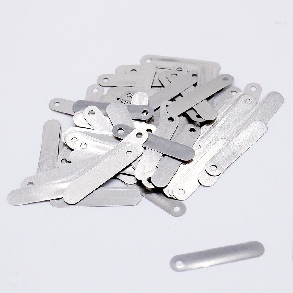 Lengüetas de soldadura de níquel para la construcción de baterías de iones de litio Chapado en níquel acero SPCC 100 piezas