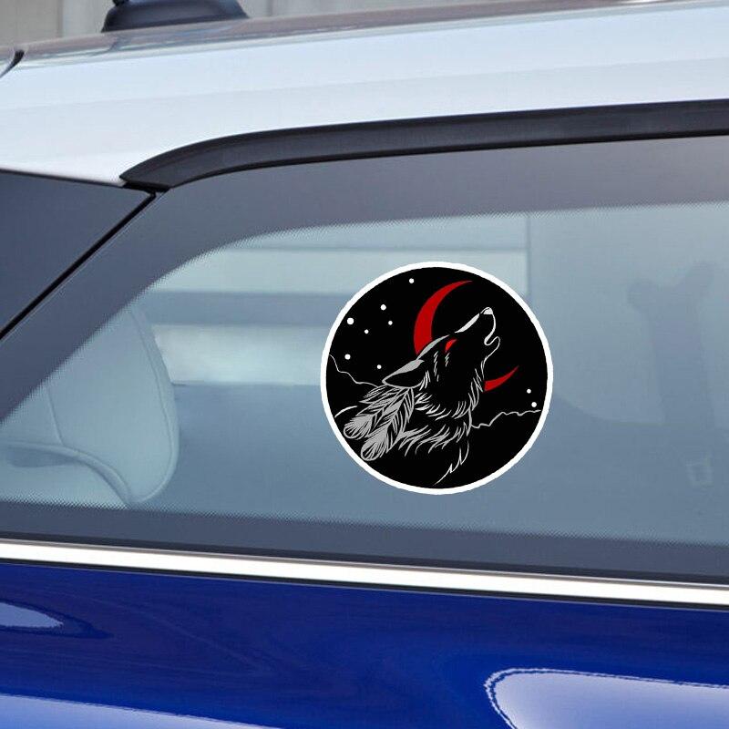 Купить с кэшбэком Vinyl Car stickers Decals Motorcycle Accessories Car-Window Decorative Goods PVC 13cmx13cm Personalized wolf call