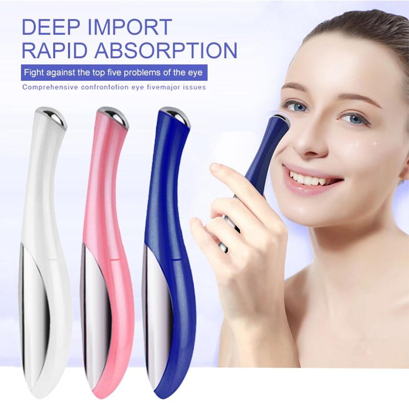 Electric Vibration Eye Face Massager Anti-Ageing Wrinkle Dark Circle Pen Removal Wrinkle Eye Pouch Beauty Care Mini Portable Pen