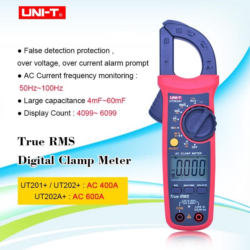 Pinza medidor Digital UNI T UNI-T UT201 + UT202 + UT202A + Amperimetro de Corriente CA