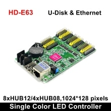 HD-E63 Ethernet Huidu P10 Dual Color LED Display Card Led Programmable Sign  Board Controller