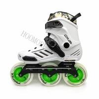 white black adult roller skates patines rocker powerslide pleasure tool 243mm 3x110mm matter gi3 inline speed skates wheel 110mm